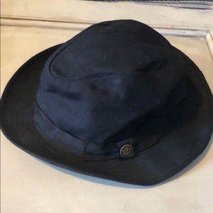 Goorin Bros 100-0037 medium Linen fedora hat Black